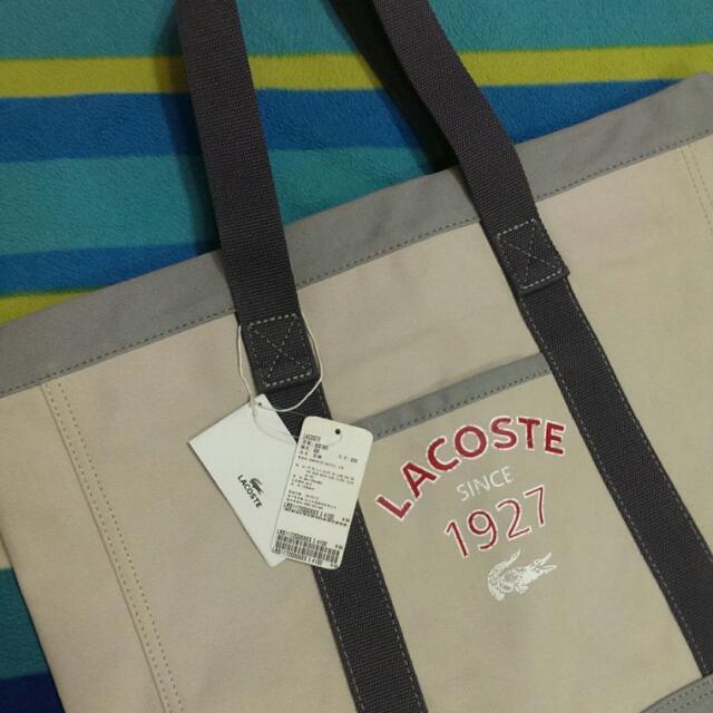 Lacoste 全新正品 特大帆布包 旅行袋
