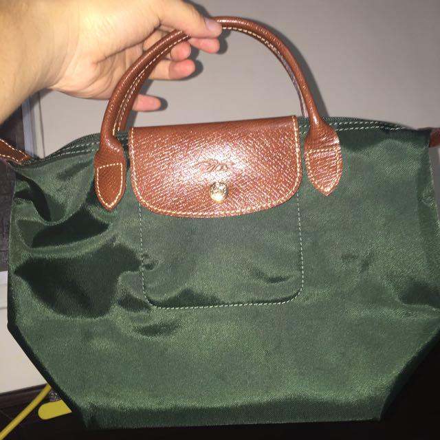 全新 正品 Longchamp S 深綠