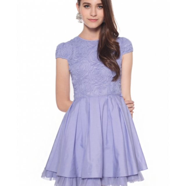 Love Bonito Rosetta Dress in Lilac ( Size S)