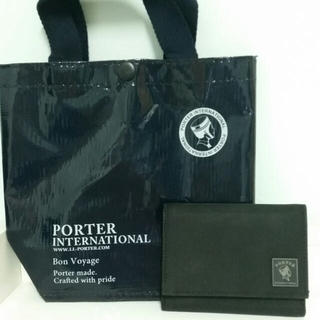 Porter簡約短夾-黑