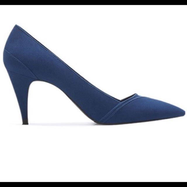 ZARA 藍色 高跟鞋 香港限定 38號 ASOS可參考