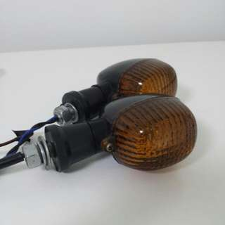 1 Pair Of Smoked Motorcycle Indicator Lamps