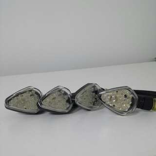 Set Of 4 Motorcycle LED Indicator Lamps