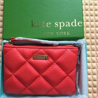 BNIB Authentic Kate Spade Leather Coin Purse - Gold Coast (Flo Coral)