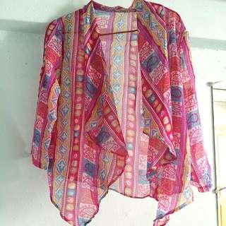 Colourful thin cardigan