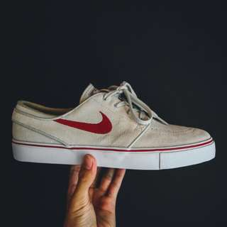Nike Zoom Stefan Janoski SB Light Bone/Red
