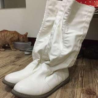 白色長靴(二手)可議價