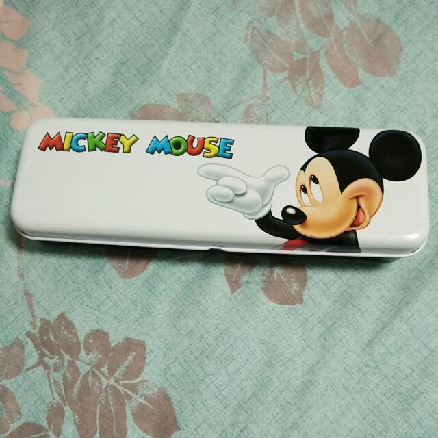 免運🎈迪士尼米奇雙層鐵筆盒