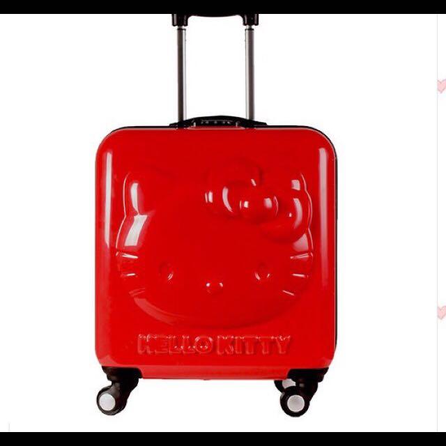 出清 限時特價 3D Hello Kitty 18吋 行李箱 登機箱