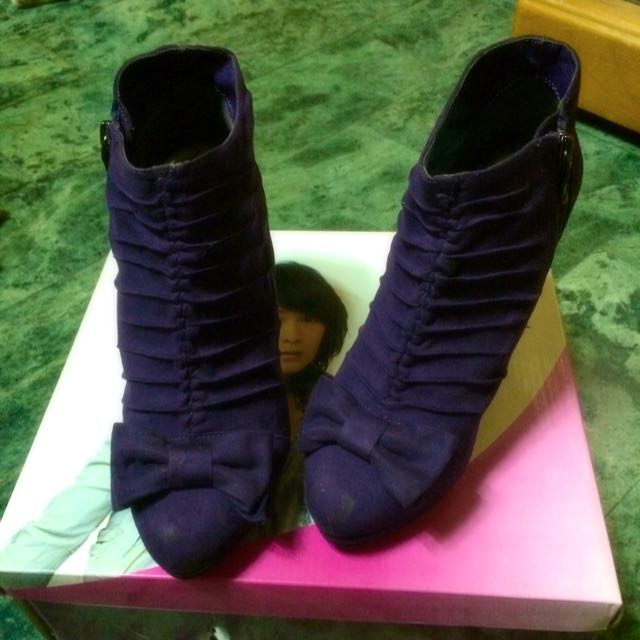 達芙妮DAPHNE深紫🎀🎀裸靴