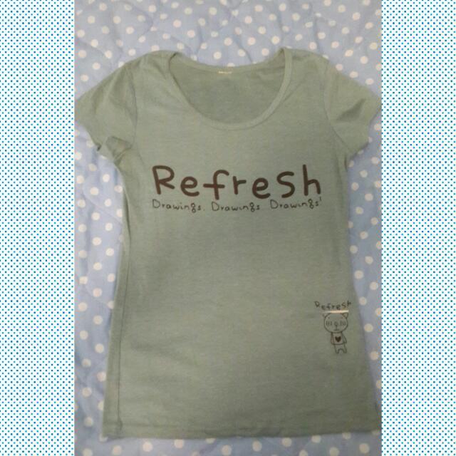 二手-Refresh可愛熊熊tee