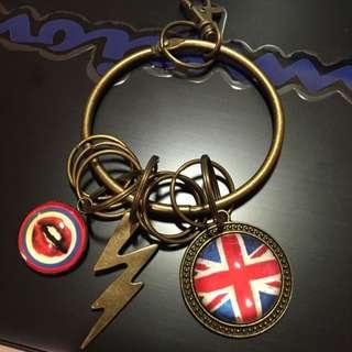 手創 Handmade 鑰匙圈 鑰匙環 英國國旗 英倫風