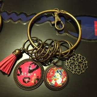 手創 Handmade 鑰匙圈 鑰匙環 agnes b 豹紋