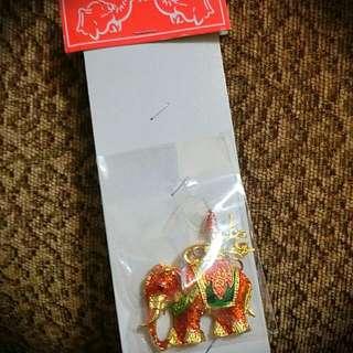泰國亮晶晶大象鑰匙圈