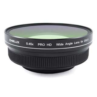40.5mm EMOLUX 0.45x Pro HD Wide Angle Converter Lens