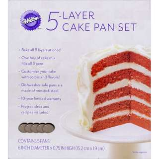 (Reserved) BN Wilton 2105-0112 Easy Layers! 5-Piece Cake Pan Set, 6-Inch