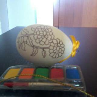 Eggshell With Paint And Brush