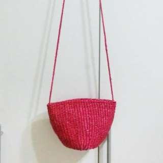 🚚 編織桃紅包