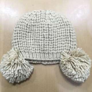 針織球球毛線帽