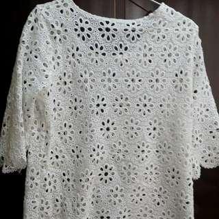 日系外罩洋裝(白)