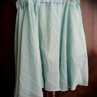 雪纺短裙(綠)