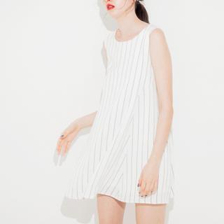 <代購>日本MURUA 無袖直條紋洋裝