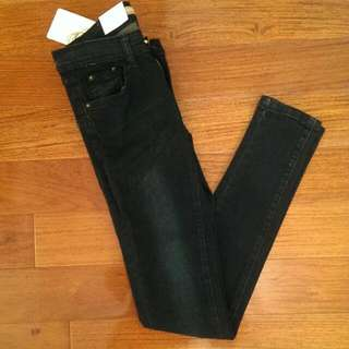 全新黑色牛仔褲