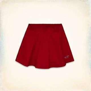 降價!全新 Hollister Hco 紅色 圓裙