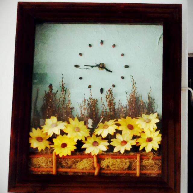 印尼壁畫式時鐘