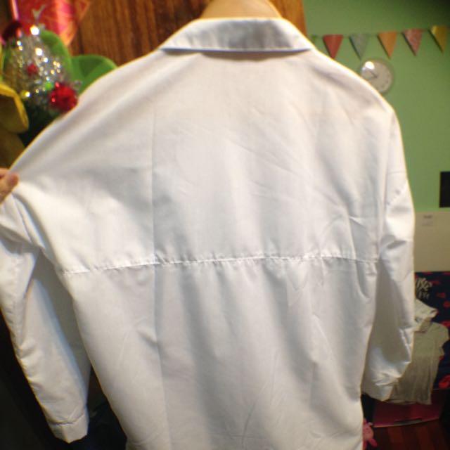 白色長版襯衫🍃