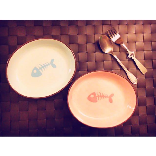 魚骨頭陶瓷碗