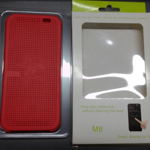 HTC M8 副廠透視皮套(紅)
