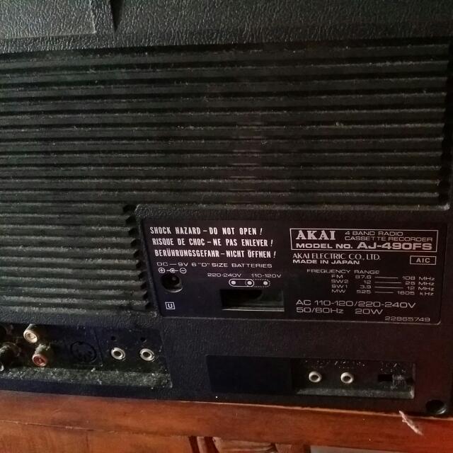 Vintage Akai Boombox Radio