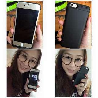 I PHONE 6 用無線充電「背夾式行動電源」