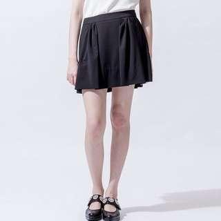 【iohll】女細褶裙1(S)黑色