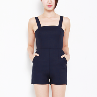 Thescarletroom TSR Hayden Basic Romper in Navy Colour (Size M)