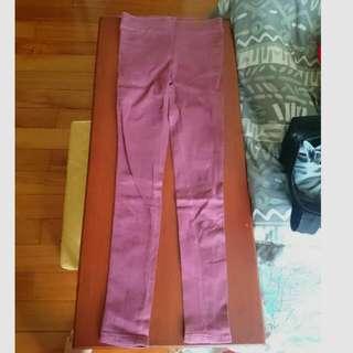 二手/顯瘦褲 棗紅色 紫紅 酒紅
