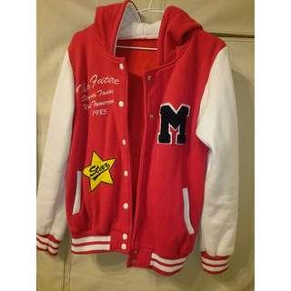二手/紅色棒球外套