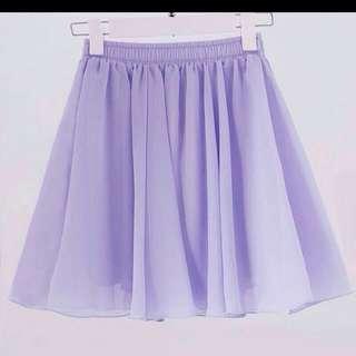 Lilac chiffon skirt