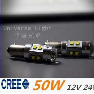 精品BAY9S LED 50W歐規燈泡 汽車 重機 GTS 300i/ RV270/RV250 GOLF GTI 七代