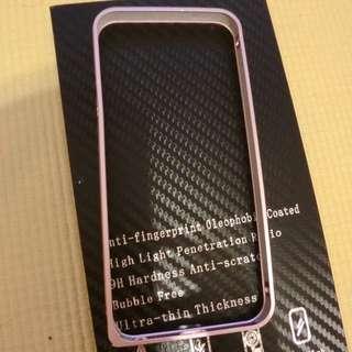 I Phone5/5s 粉紅色弧邊海馬扣