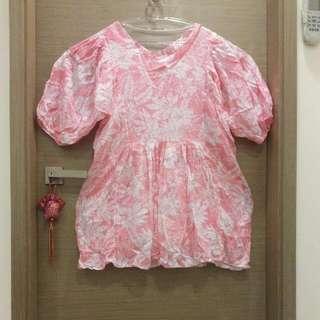 粉紅熱帶洋裝