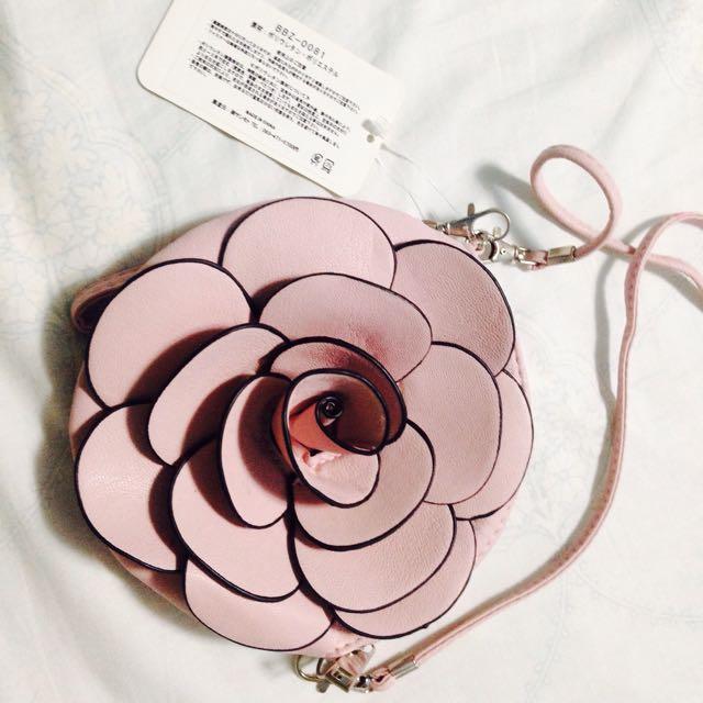 玫瑰花 側背包
