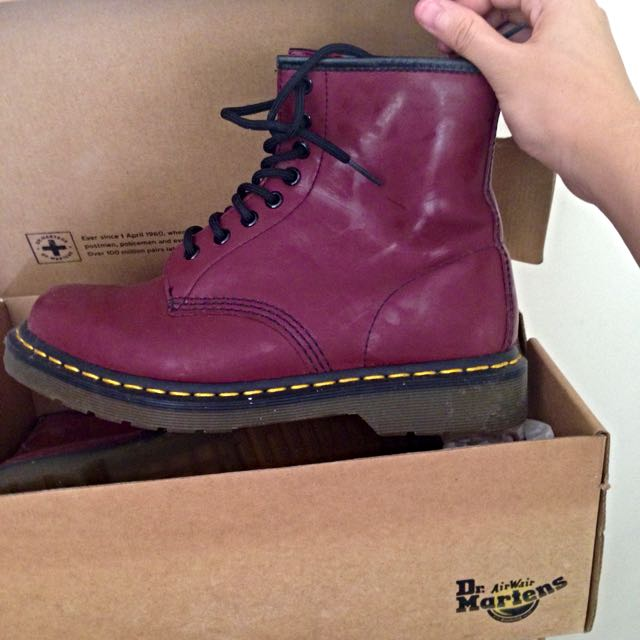 Dr Martens 8-Eye Boots (Cherry Red)