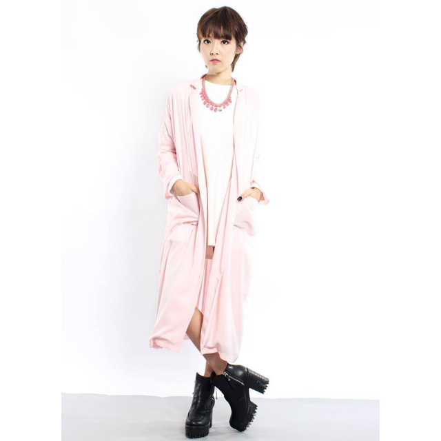 YOUNG HUNGRY FREE YHF Dreamer Coat in Pink