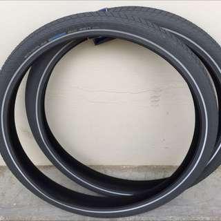 """Grey, Gray Schwalbe Big Ben Tires 26"""" Mtb"""