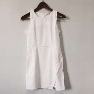 New White Asymmetric Dress