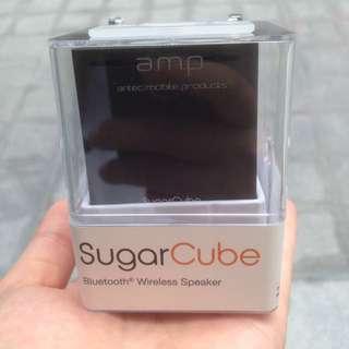 全新 a.m.p 攜帶 藍芽 音響 喇叭 擴音 黑 Sugar Cube 交換禮物