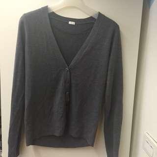 Gu-針織外套-灰色-很少穿-s號-舒適不刺身體
