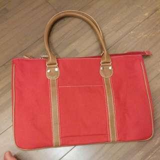 全新 紅色托特包